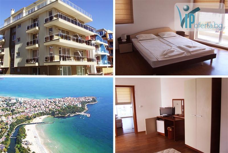 50% намаление на еднодневен пакет в двуспален апартамент за четирима души в Къща за гости Нептун, Приморско